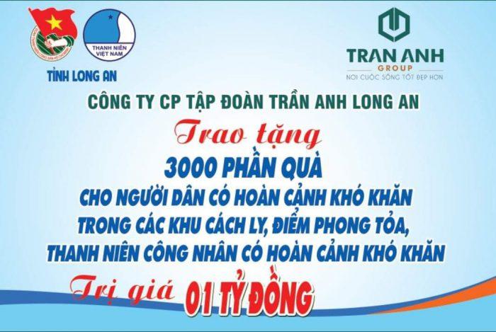 Tỉnh Long An: Trần Anh Group tặng quà cho người dân khó khăn